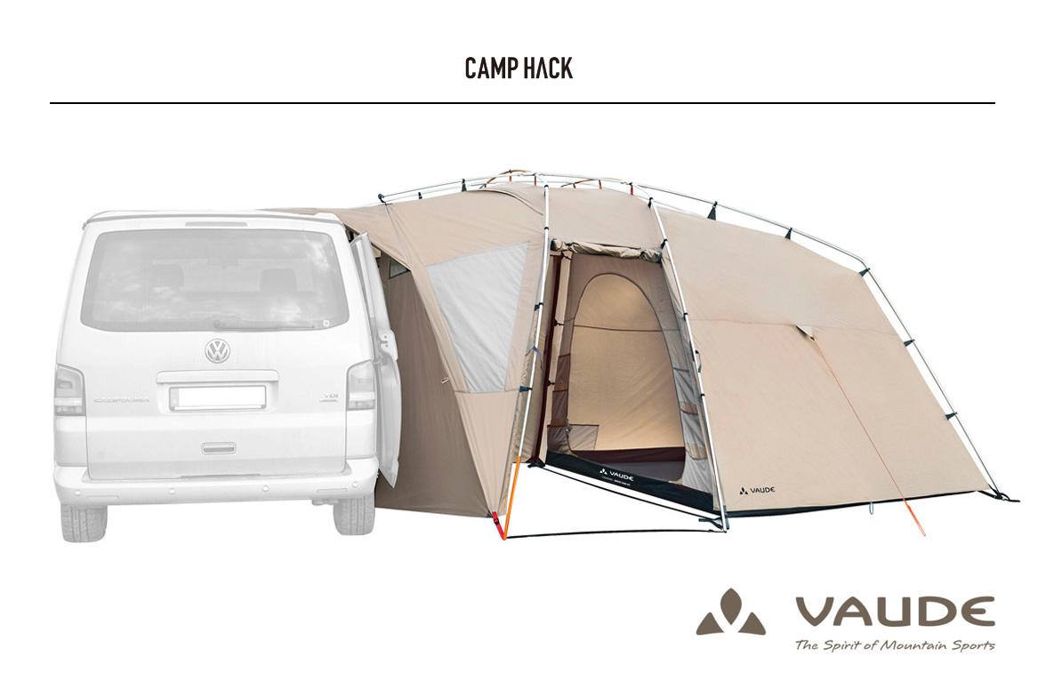 CAMP HACK サイトにて Drive Van XT 5P(VAUDE)をご紹介いただきました